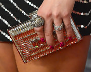 Miranda Lambert debuted these fun and funky hot-pink zebra-striped nails at the 2012 American Country Awards.