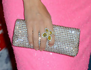 At the 2012 American Country Awards, Jewel accented her bubblegum-hued dress with a pale pink clutch by Oroton.