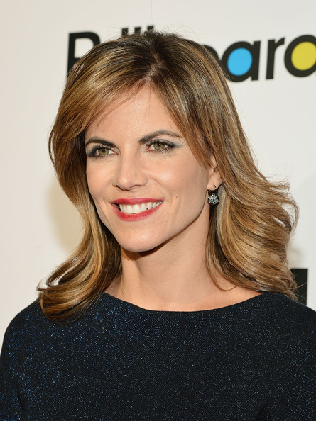 More Pics of Natalie Morales Medium Curls with Bangs (2 of 8) - Shoulder Length Hairstyles Lookbook - StyleBistro