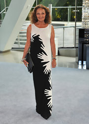 Diane von Furstenberg got handy at the CFDA Awards in this clever intarsia column dress from her Fall 2012 collection.