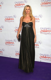 Penny Lancaster posed at the Diamond Butterfly Ball wearing a gorgeous empire gown.