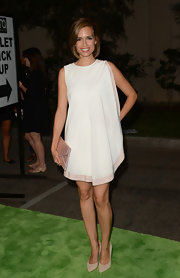 Torrey showed off her legs in this loose-fitting draped dress on the green carpet of the Environmental Media Awards.