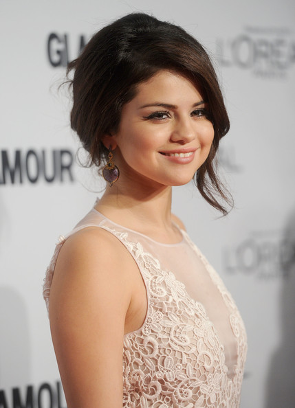 More Pics of Selena Gomez Dangling Gemstone Earrings (1 of 13) - Selena Gomez Lookbook - StyleBistro
