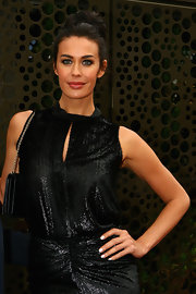 Megan Gale attended the 2012 L'Oreal Melbourne Fashion Festival wearing her nails polished a soft eggshell shade.