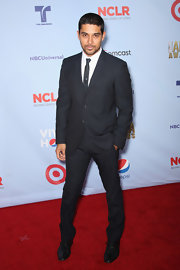 Wilmer Valderama arrived at the NCLR ALMA Awards in a wool men's suit.