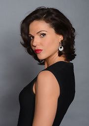 Lana Parrilla fixed her hair in a high-volume curly 'do for the NCLR ALMA Awards.