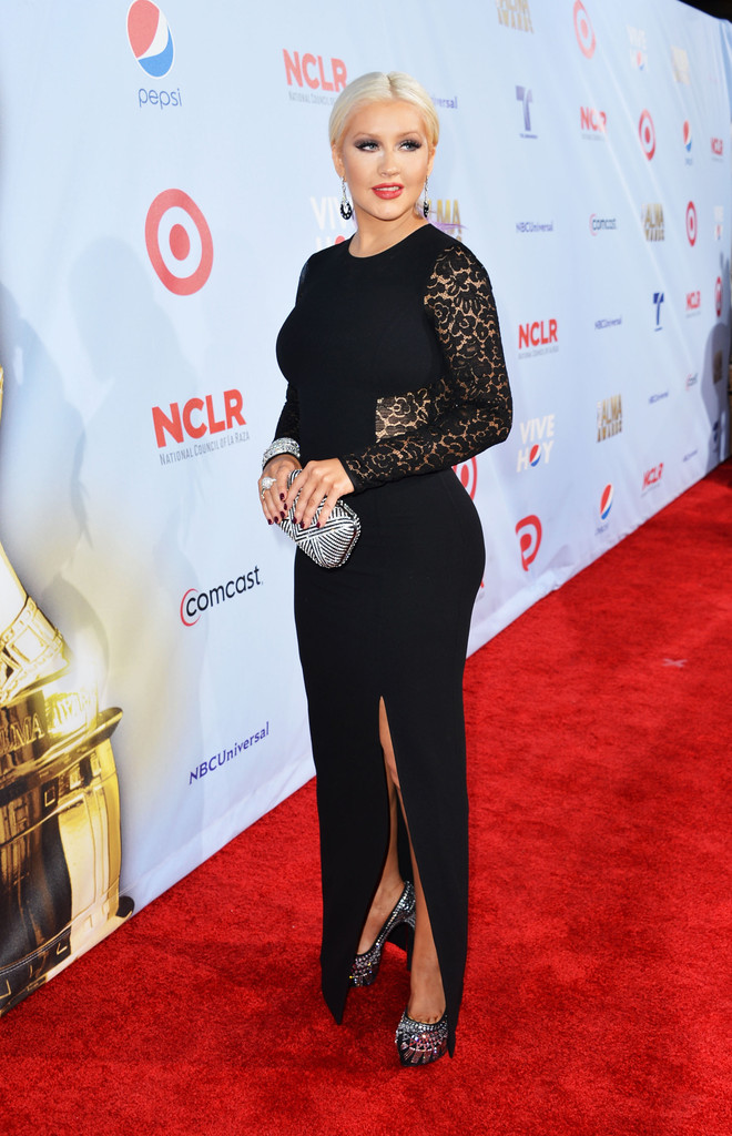 Christina Aguilera arrives at the 2012 NCLR ALMA Awards at Pasadena Civic Auditorium on September 16, 2012 in Pasadena, California.