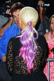 Christina Aguilera wore her hair in a long My Little Pony-tail at the ALMA Awards.