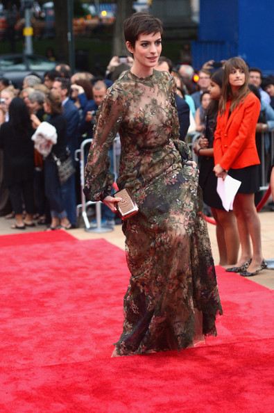 More Pics Of Anne Hathaway Evening Dress 2 Of 11 Anne Hathaway