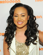 Cymphonique Miller accented her eyes with metallic copper shadow for the 2012 Nickelodeon Upfront presentation.