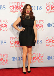 Maya Rudolph paired her LBD with classic black stilettos.