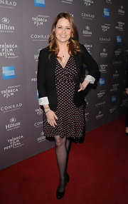 Jenna Fischer wore this dotted dress with a blazer at the Tribeca Film Festival reception.