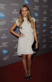Renee Bargh donned this breezy cream silk dress to the Tribeca Film Festival reception.