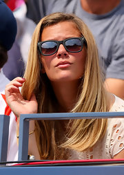 Brooklyn's gray pair of wayfarers were a chic accessory for watching her hubby play in the US Open.
