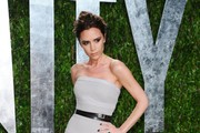 Entertainer Victoria Beckham arrives at the 2012 Vanity Fair Oscar Party hosted by Graydon Carter at Sunset Tower on February 26, 2012 in West Hollywood, California.