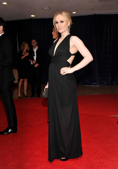 You can't go wrong with basic black like Anna Paquin's gown at the White House Correspondents' Dinner.