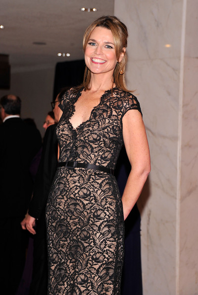 More Pics of Savannah Guthrie Evening Dress (1 of 4) - Savannah Guthrie Lookbook - StyleBistro