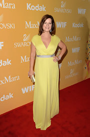 Marcia Gay Harden glowed at the 2012 Women in Film Crystal + Lucy Awards wearing a yellow maxi dress.