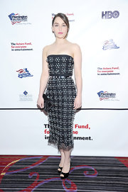 Emilia Clarke rocked an embellished strapless dress at the Actor's Fund Gala in NYC.