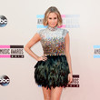 Keltie Knight in Shimmering Feathers