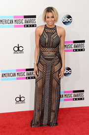 Ciara was one hot babe in this see-through black gown by J. Mendel at the American Music Awards.