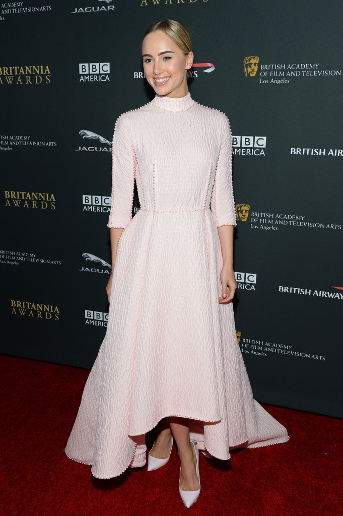 Model  Suki Waterhouse with Stylebop.com during the 2013 BAFTA LA Jaguar Britannia Awards presented by BBC America at The Beverly Hilton Hotel on November 9, 2013 in Beverly Hills, California.