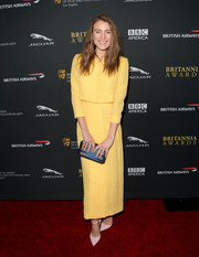 Dree Hemingway went the conservative route with this simple yellow Emilia Wickstead skirt suit during the BAFTA LA Britannia Awards.
