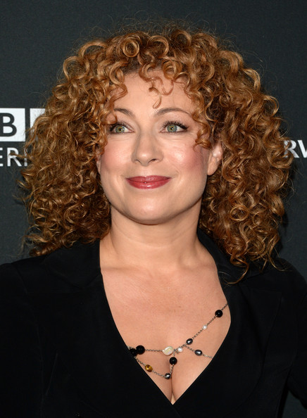 More Pics of Alex Kingston Medium Curls (1 of 5) - Alex Kingston Lookbook - StyleBistro