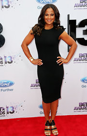 Laila Ali showed off her athletic figure when she donned this black, stretch dress.