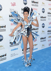 Z-LaLa rocked this aluminum star burst bodysuit while at the 2013 Billboard Music Awards.