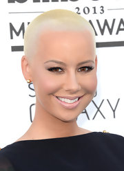 Amber Rose's makeup looked simply flawless with a creamy nude lipstick that gave her a barely-there lip look.