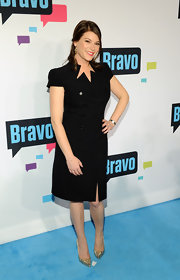 Gail Simmons' LBD had a bit of a retro-flare to it with its double row of buttons and funky zig-zag neckline.