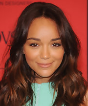 Ashley Madekwe chose a soft nude lip to complement her fresh-faced glow.