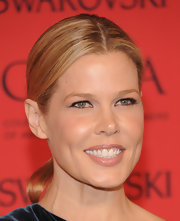 Mary Alice Stephenson pulled back her blonde locks into this center-parted sleek ponytail.
