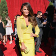 Chrissy Teigen's Sheer Yellow Button-Down