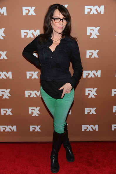 Katey Sagal kept it laid-back with a denim jacket, jeans, and knee-high boots at the 2013 FX Upfront Bowling event.