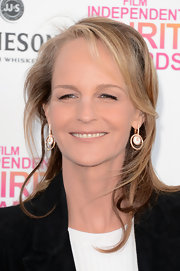 Helen Hunt opted for an age-appropriate half-up, half-down 'do for the Independent Spirit Awards.