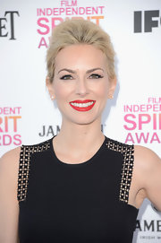 Kira Miro chose a classic French twist for her platinum blonde locks at the Independent Spirit Awards.