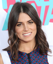 Nikki Reed went boho at the HALO Awards with this center-parted wavy 'do.