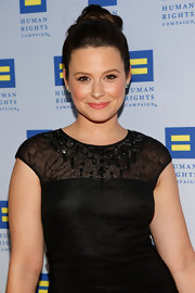 Katie Lowes chose a classic twisted bun for her sophisticated and sleek look at the Human Rights Campaign Gala.