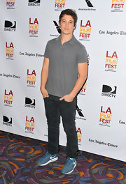 Miles opted for classic denim jeans at the LA Film Fest premiere of 'The Spectacular Now.'