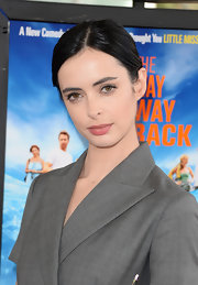 Krysten Ritter pulled her hair up in a classic neat bun for the Los Angeles Film Festival premiere of 'The Way, Way Back.'