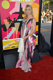Nastassja Kinski wore a long printed dress for the 'I'm So Excited' premiere in LA.