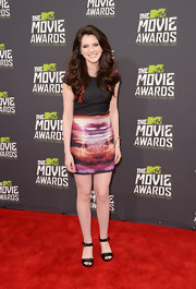 Kara Hayward rocked a colorful mini skirt at the MTV Movie Awards.