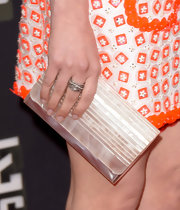 Lauren Miller rocked an iridescent clutch at the MTV Movie Awards.