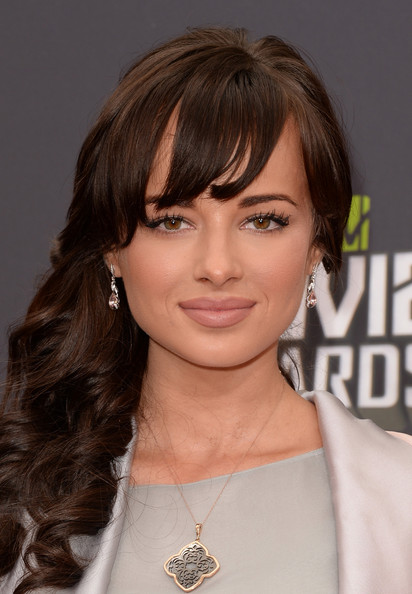 More Pics of Ashley Rickards Long Curls with Bangs (1 of 14) - Ashley Rickards Lookbook - StyleBistro