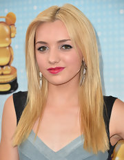 Peyton List rocked a center part on her straight 'do.