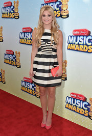 Olivia Holt rocked this black-and-white striped dress at the Radio Disney Music Awards.