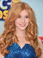 Katherine McNamara chose tight ringlets for her full and bouncy look at the Radio Disney Music Awards.