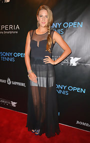 Victoria Azarenka chose this uber-sheer evening gown for her red carpet appearance at the Sony Open Player party.